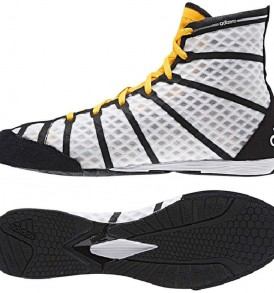 Adidas adiZero Boxing Boots - White/Black/Orange