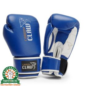 Carbon Claw AMT Leather Sparring Gloves - Blue