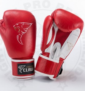 Carbon Claw AMT Leather Sparring Gloves - Red