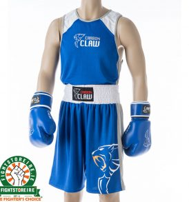 Carbon Claw AMT Premium Boxing Vest and Shorts - Blue