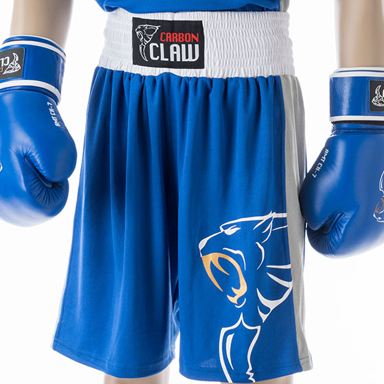 Carbon Claw Amt Premium Boxing Shorts Blue Fight Store