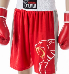 Carbon Claw AMT Premium Boxing Shorts - Red