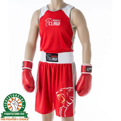Carbon Claw AMT Premium Boxing Vest and Shorts - Red