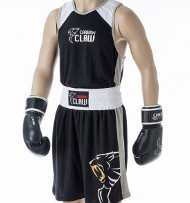 Carbon Claw AMT Premium Boxing Vest and Shorts - Black