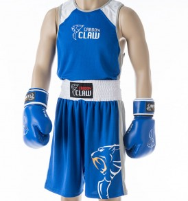 Carbon Claw AMT Premium Boxing Vest & Shorts - Blue