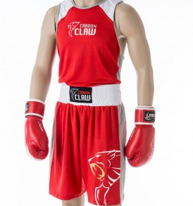 Carbon Claw AMT Premium Boxing Vest & Shorts - Red