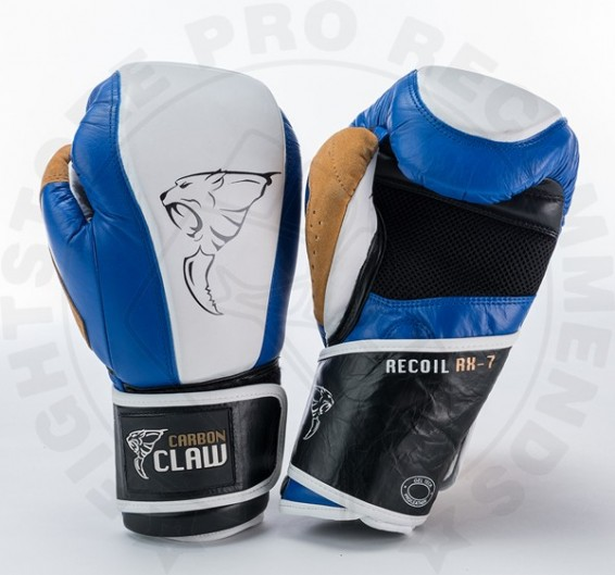 Carbon Claw Gym Pro Bag Gloves in Blue/White