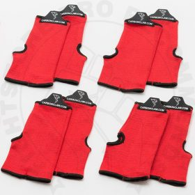 Carbon Claw Inner Elasticated Wash Mitts Red Club Pack x 6