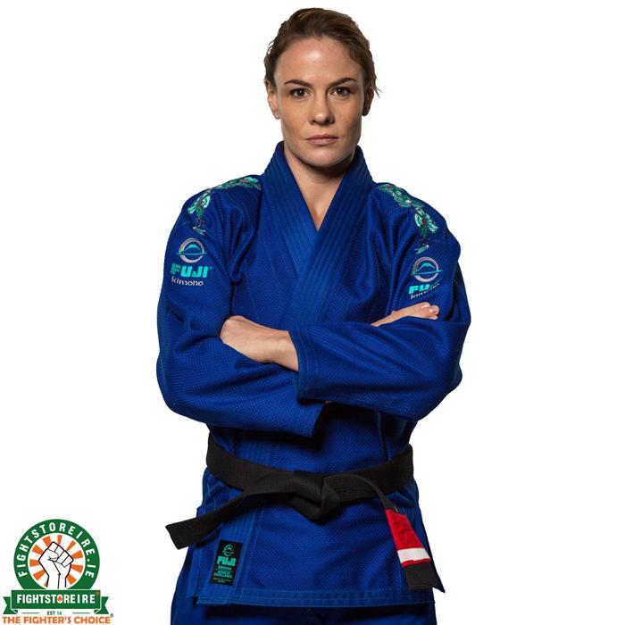 FUJI Blossom Womens Jiu-Jitsu Gi White 100/% Cotton Tapered IBJJF Approved