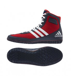 Adidas Mat Wizard 3 Wrestling Shoes - Scarlet/Navy