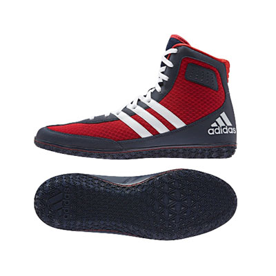 pas mal 5444f 6cb84 Adidas Mat Wizard 3 Wrestling Shoes - Scarlet/Navy
