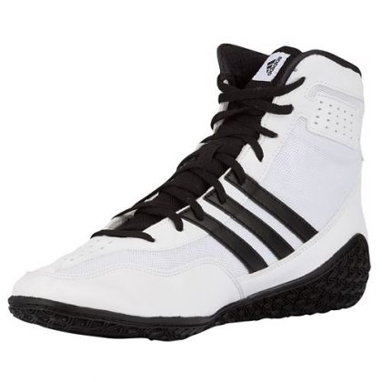 81da6c5976fe8d Adidas Mat Wizard 3 Wrestling Shoes - White Black Silver - Fight ...