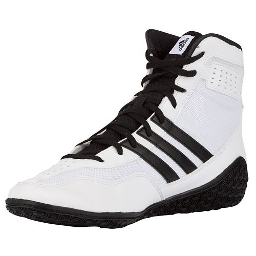 Adidas Mat Wizard 3 Wrestling Shoes White Black Silver