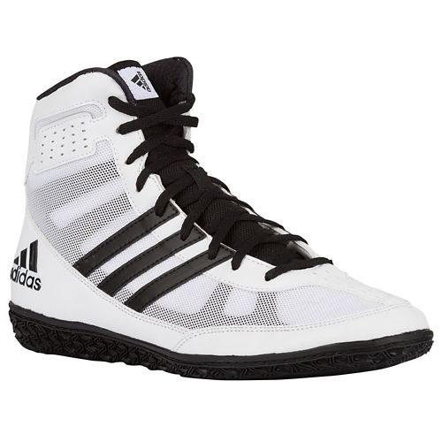 Adidas Mat Wizard 3 Wrestling Shoes - White/Black/Silver - Fight ...