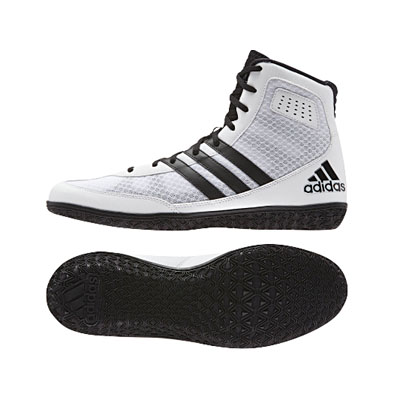 White Mat Wizard Wrestling Shoes