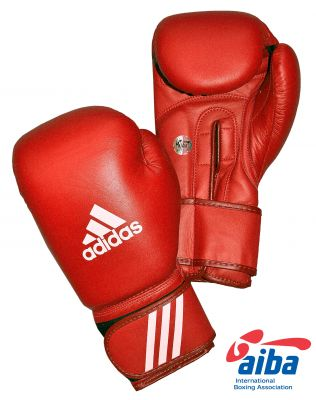 Adidas AIBA Licensed Boxing Gloves - Red