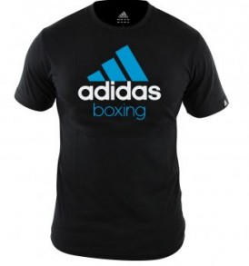 Adidas Boxing T-Shirt - Black/Solar Blue