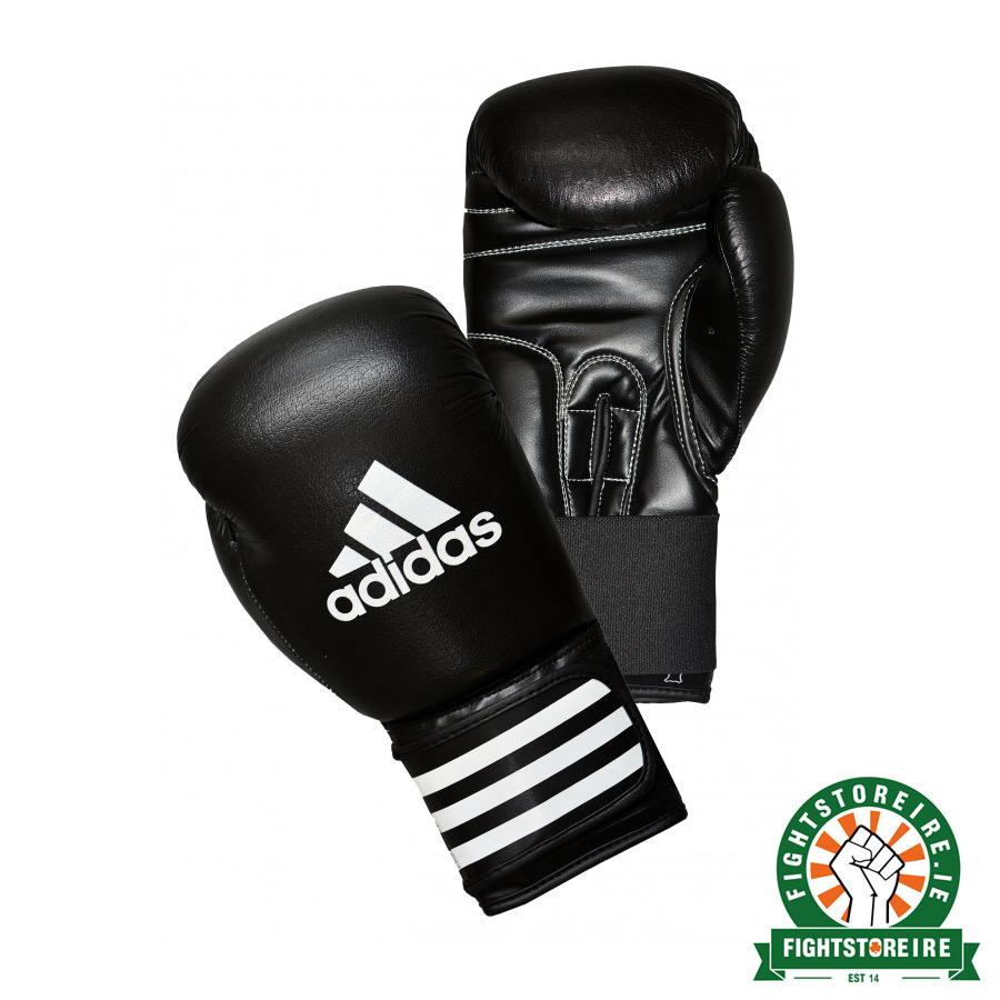 Adidas performer boxing gloves black white