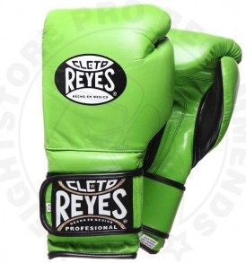 Cleto Reyes Velcro Sparring Gloves Green