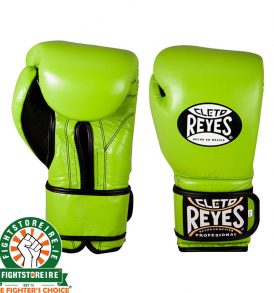 Cleto Reyes Velcro Sparring Gloves 16oz Green