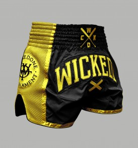 Wicked One W.O.T Muay Thai Shorts - Black and Yellow