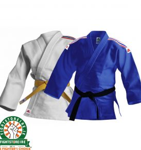Adidas Kids Judo Uniform - White & Blue