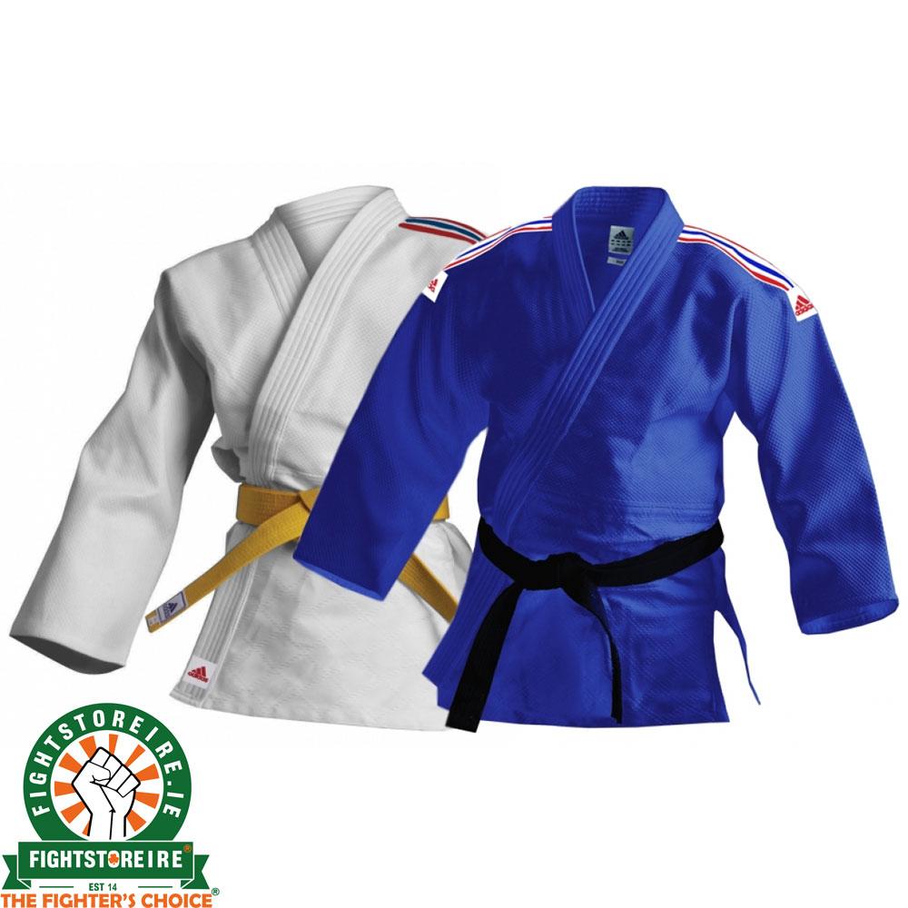 32701741bfe5 Adidas Kids Judo Uniform - White   Blue
