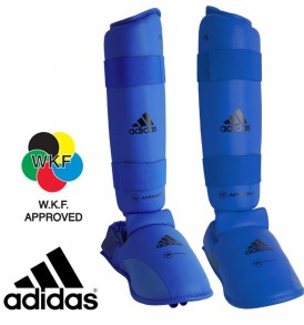 Adidas WKF Shin and Removable Instep Pads - Blue