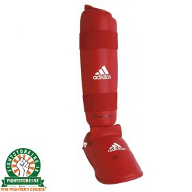 Adidas WKF Shin and Removable Instep Pads - Red