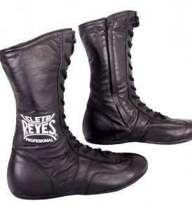 Cleto Reyes Leather High Top Boxing Boots - Black