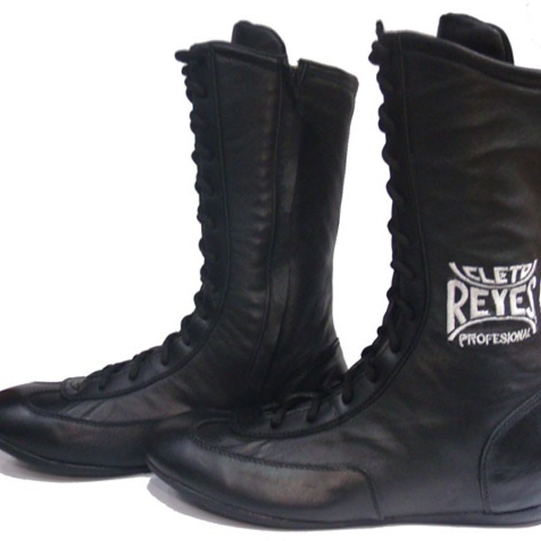 cleto reyes leather high top boxing boots black fight