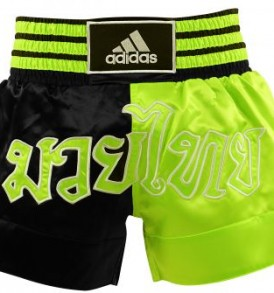 Adidas Thai Boxing Shorts Large Print - Black/Green