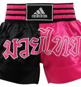 Adidas Thai Boxing Shorts Large Print - Black/Pink