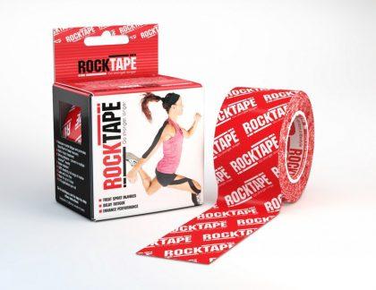 RockTape Red Logo 5cm width - 5m length