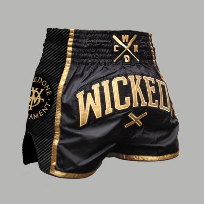 Wicked One WOT Muay Thai Shorts - Black and Gold