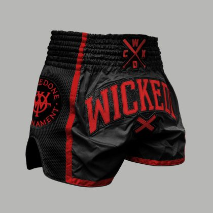 Wicked One WOT Muay Thai Shorts - Black and Red