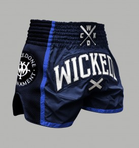 Wicked One WOT Muay Thai Shorts - Navy and Blue