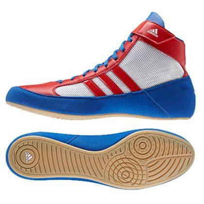 Adidas Havoc Adult Wrestling Shoes - Blue/Vivid Red