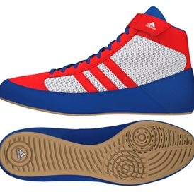 Adidas Havoc Adult Wrestling Shoes - Blue/Vivid Red