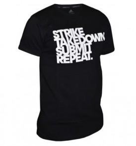 Adidas MMA Printed T-Shirt - Black