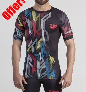 Urban Resilience Graffiti Kilroy Rashguard and Long Tights - Black