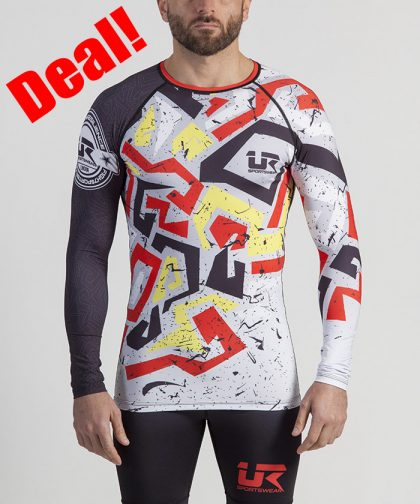 Urban Resilience Graffiti Long Sleeve Rashguard and Tights - Taki-183