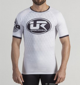Urban Resilience Short Sleeve Performance Rashguard - White