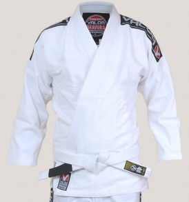 Valor Bravura BJJ Gi - White with Free White Belt
