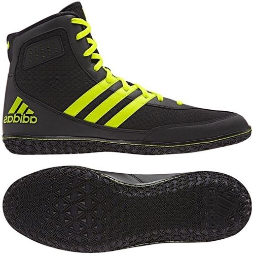 Adidas Mat Wizard 3 Wrestling Boots - Black/Yellow