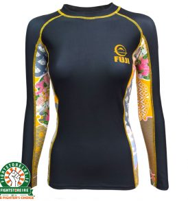 Fuji Sports Kimono Rash Guard - Black/Gold