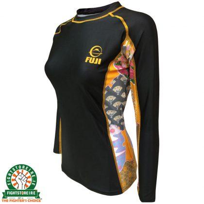 Fuji Sports Kimono Rash Guard - Black/Gold