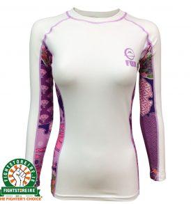Fuji Sports Kimono Rashguard - White/Pink