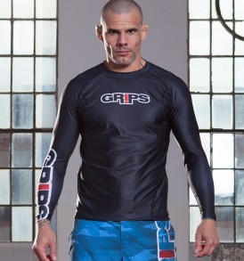 Grips Armadura Long Sleeve Rashguard - Black