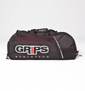 Grips Black Duffel Backpack